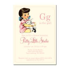 Baby shower invitations vintage toys