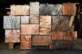 hammered copper wall art copper wall