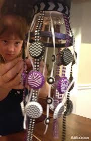 tween girl locker chandelier craft idea