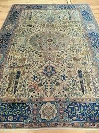 8x10 oriental rug oriental area rugs rare signed oriental area rug blue beige animals birds lion