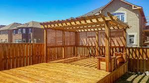 Fence Pergola Designs Brampton Deck Pergola Design Build Otto Fence Deck