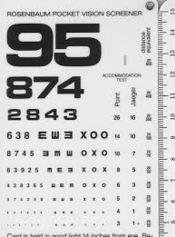 20 Described Printable Eye Chart Vision Test
