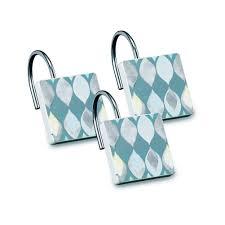com s rummel designed fabric shower curtain and shower hooks sea glass shower curtain home kitchen