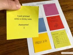 Notes Template Printable Free Printable Sticky Notes Template Color In My Piano
