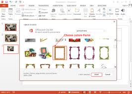 picture frames in powerpoint 2016 choose picture frame