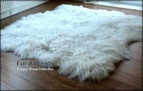 Concept White Fur Shag Rug Faux Carpet Vidalondon Roselawnlutheran On Ideas