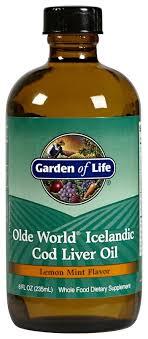 com garden of life olde world icelandic cod liver oil lemon mint flavour 8 fl oz health personal care