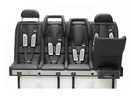 this is the only car seat around that allows up to four children to sit all together in a row from newborn up to 12 years old and it s also approved for