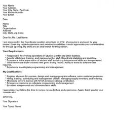 Email Cover Letter Examples 2018