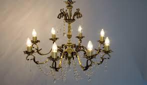restoration of original italian brass chandeliers