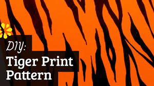Tiger Pattern Custom How To Make Tiger Pattern YouTube