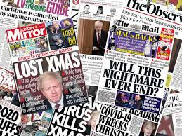 Boris to host press conference tonight as freedom day is set to be delayed. Tier 4 How Uk Newspapers Are Reacting To Boris Johnson Cancelling Christmas The Independent