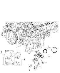2011 jeep grand cherokee engine oil filter adapter housing cooler diagram