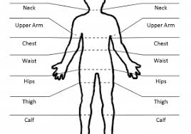 Men Body Chart 14 Body Measuring Chart And Body Measurement Guide For