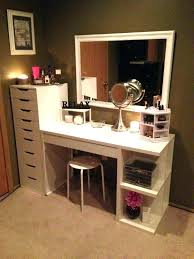 ikea vanity makeup table with lights and drawers white