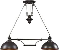 Oil Rubbed Bronze Kitchen Island Lighting Elk Lighting 65151 3 Farmhouse Two Or Three Light Island