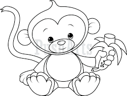 Monkey Printable Coloring Pages Cute Coloring Pages To Print Cute