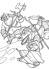 Small Picture Master Shifu from Kung Fu Panda coloring pages for kids printable