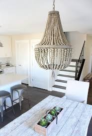 daphne empire wood beaded chandelier modern farmhouse style kitchen and dining satori design for