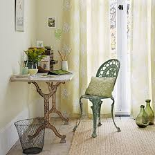 country home office. Yellow And Green Home Office Country T