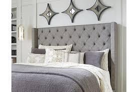 Sorinella Queen Upholstered Headboard, Gray, large ...