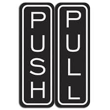 pull door sign. Contemporary Pull Classic Vertical Push Pull Door Sign For
