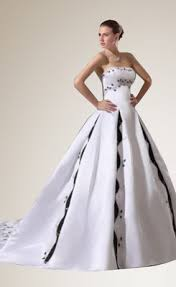 cheap black and white wedding dresses for sale at wholesale price