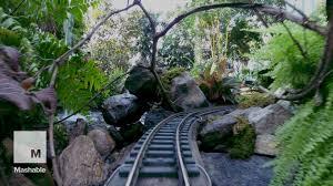 holiday train show ride through new york s botanical garden mashable you