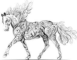Adult Horse Coloring Pages Children A