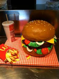 Burger Cake Design Cake Design Mc Donald Hippy Birthday 18th Birthday Cake