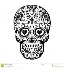 день мертвого эскиза черепа иллюстрация вектора иллюстрации