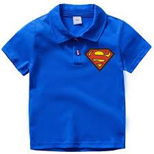 Blue Polo Shirt Design Amazon Com Toddler Boys Superman Short Sleeve Polo Shirt