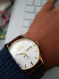 TISSOT Visodate Heritage (white dial) (brown and gold) (Swiss ...