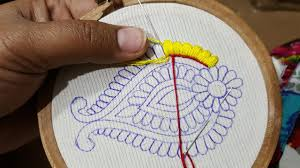 Allstitch Embroidery Designs Wow Amazing Work Satin Stitch All Over Hand Embroidery Design Beautiful Sketch Design