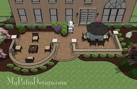 Small Picture DIY Paver Patio Design with Seat Wall Downloadable Plan
