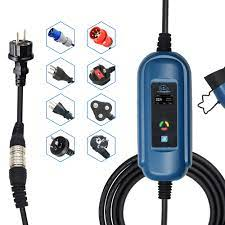 Ayarlanabilir araba şarj kablosu evse 32a saej1772 CEE mavi ve kırmızı  schuko priz elektrikli otomobil şarj sae j1772 ev konektörü|
