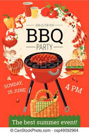 Bbq Poster Bbq Barbecue Party Announcement Poster Summer Bbq Party