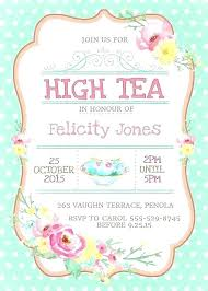 Tea Party Invitations Free Template Kitchen Tea Invite Template Gotostudy Info