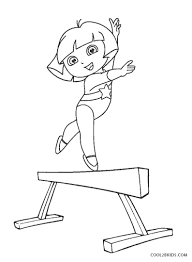 Images of flowers, umbrellas, baby animals, and kites dance all these spring coloring pages are free and can easily be printed from your home computer. Free Printable Gymnastics Coloring Pages For Kids