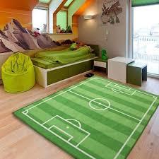 kids large small bedroom football field floor rug nurcery boys play mats carpets