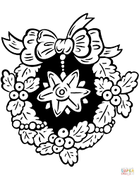 Small Picture Christmas Wreath coloring pages Free Coloring Pages