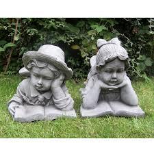 children garden statues. Stone-statue-kids-book Children Garden Statues T