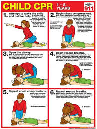 Child Cpr First Aid Wall Chart Poster 2017 Aha Guidelines