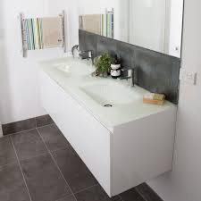 aurora white double bowl glass vanity top 1500mm