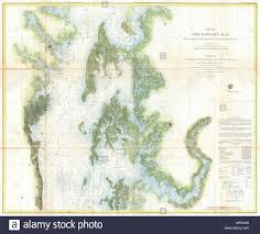 Potomac River Depth Chart Map Of Chesapeake Bay From The Head Of The Bay To The Mouth