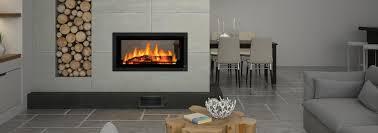 Mansfield Modern Seethrough Wood FIreplace Wood Burning