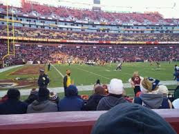 Fedex Field Seating Chart Fedex Field Section 126 Home Of Washington Redskins