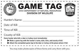Game Tag Template Download And Print A Game Tag To Use In