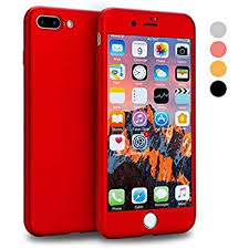 apple 7 plus red. iphone 7 plus case, vansin 360 full body protection hard slim case coated non slip apple red d