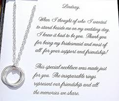 bridesmaid and maid of honor necklace with message card it had to be you